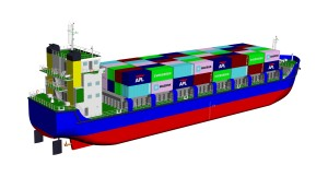 Western Marine designed 176 TEUs container vessel, approved by Bangladesh Department of Shipping for operation in Chittagong to Pangaon route