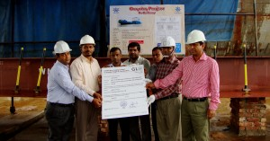 Germanischer Lloyd handing over keel laying certificate to the shipyard & the owner BIWTC