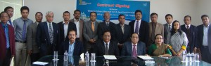 The team of Western Fishers Shipyard & Agro Food Services during the contract signing ceremony
